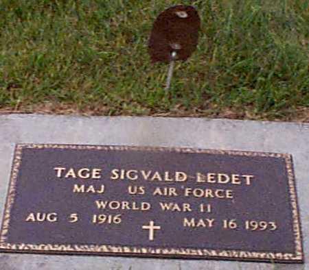 LEDET, TAGE SIGVALD - Audubon County, Iowa | TAGE SIGVALD LEDET