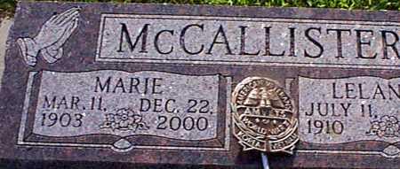 MCCALLISTER, MARIE - Audubon County, Iowa | MARIE MCCALLISTER