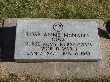 MCNALLY, ROSE ANN - Audubon County, Iowa   ROSE ANN MCNALLY