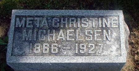 MICHAELSEN, META CHRISTINE - Audubon County, Iowa   META CHRISTINE MICHAELSEN
