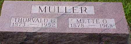 MULLER, THROVALD GEORGE - Audubon County, Iowa | THROVALD GEORGE MULLER