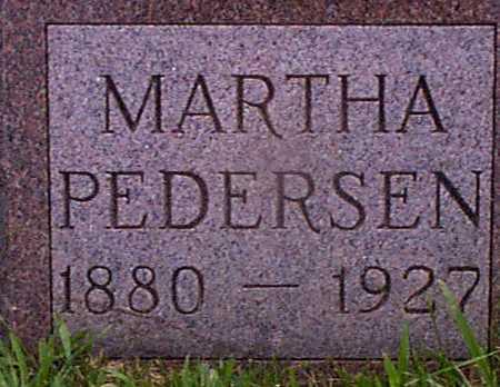 PEDERSEN, MARTHA - Audubon County, Iowa   MARTHA PEDERSEN