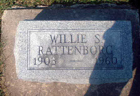 RATTENBORG, WILLIE S. - Audubon County, Iowa | WILLIE S. RATTENBORG