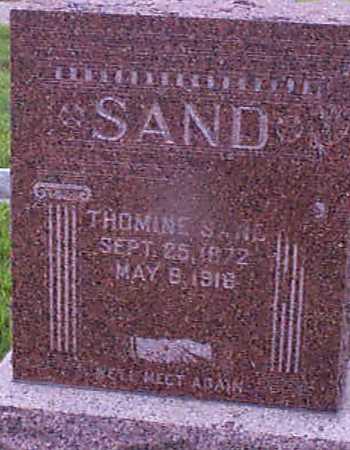 SAND, THOMINE - Audubon County, Iowa | THOMINE SAND