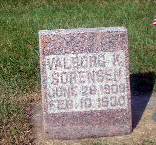 SORENSEN, VALBORG K. - Audubon County, Iowa   VALBORG K. SORENSEN