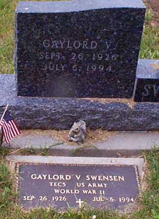 SWENSEN, GAYLORD V - Audubon County, Iowa   GAYLORD V SWENSEN