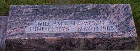 THOMPSON, WILLIAM F - Audubon County, Iowa   WILLIAM F THOMPSON