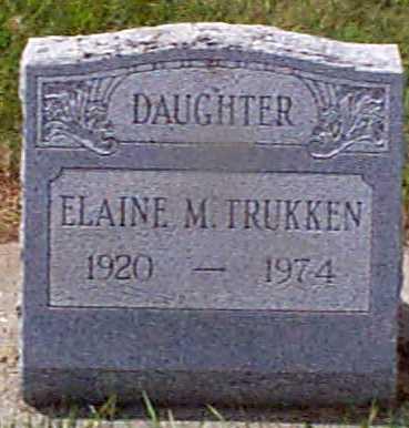 TRUKKEN, ELAINE M - Audubon County, Iowa   ELAINE M TRUKKEN