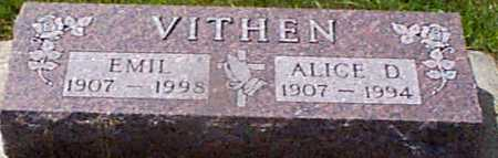 VITHEN, ALICE D - Audubon County, Iowa | ALICE D VITHEN
