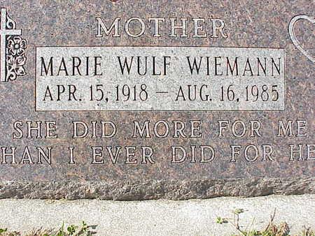 WULF WIEMANN, MARIE - Audubon County, Iowa | MARIE WULF WIEMANN
