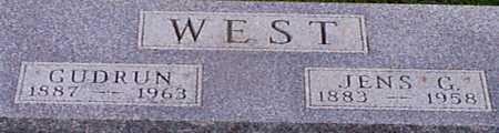 WEST, JENS G - Audubon County, Iowa | JENS G WEST