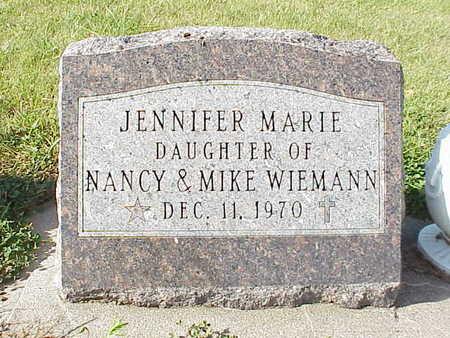 WIEMANN, JENNIFER MARIE - Audubon County, Iowa | JENNIFER MARIE WIEMANN