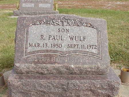 WULF, R. PAUL - Audubon County, Iowa | R. PAUL WULF