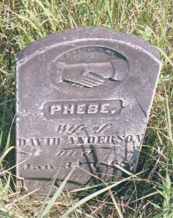 ANDERSON, PHEBE - Benton County, Iowa | PHEBE ANDERSON