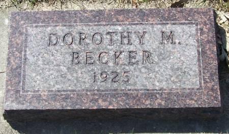 BECKER, DOROTHY M - Benton County, Iowa | DOROTHY M BECKER