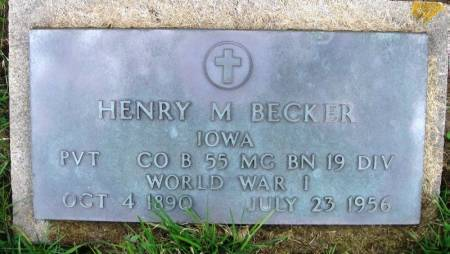 BECKER, HENRY M - Benton County, Iowa | HENRY M BECKER