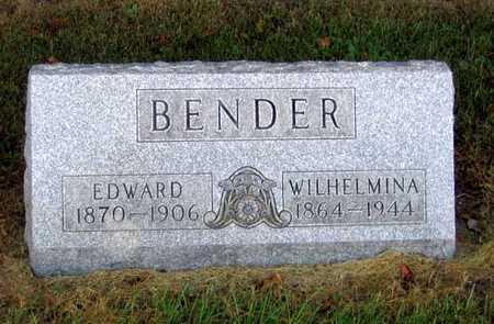 BENDER, WILHELMINA - Benton County, Iowa | WILHELMINA BENDER