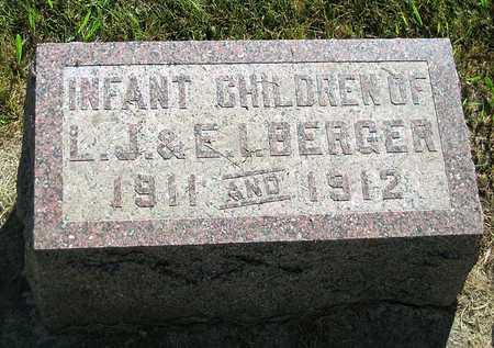 BERGER, INFANT CHILDREN - Benton County, Iowa | INFANT CHILDREN BERGER