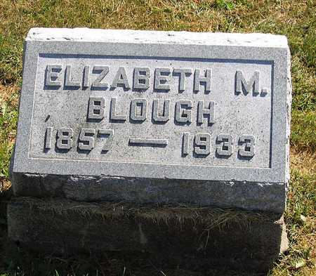 BLOUGH, ELIZABETH M. - Benton County, Iowa   ELIZABETH M. BLOUGH