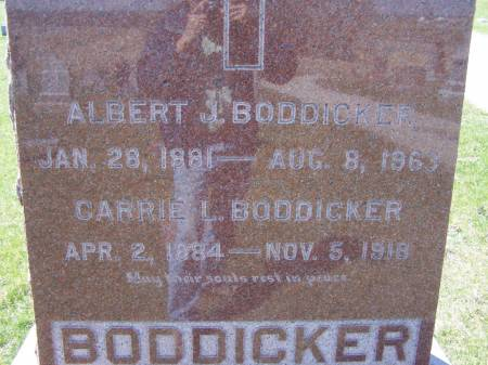 BODDICKER, ALBERT J - Benton County, Iowa | ALBERT J BODDICKER