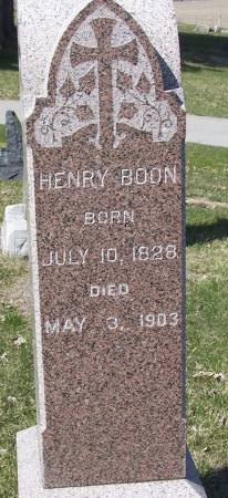 BOON, HENRY - Benton County, Iowa   HENRY BOON