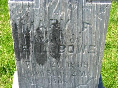 BOWE, MARY F - Benton County, Iowa | MARY F BOWE