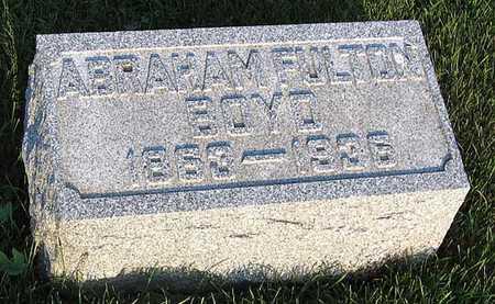 BOYD, ABRAHAM FULTON - Benton County, Iowa | ABRAHAM FULTON BOYD