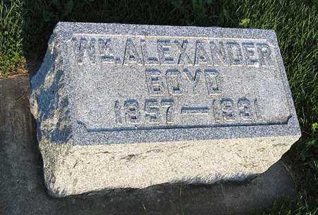 BOYD, WILLIAM ALEXANDER - Benton County, Iowa   WILLIAM ALEXANDER BOYD