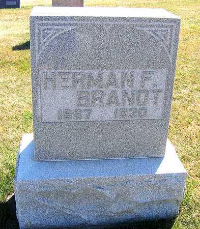 BRANDT, HERMAN F. - Benton County, Iowa   HERMAN F. BRANDT