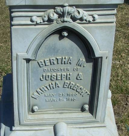 BRECHT, BERTHA M - Benton County, Iowa | BERTHA M BRECHT
