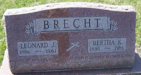 BRECHT, LEONARD J - Benton County, Iowa | LEONARD J BRECHT