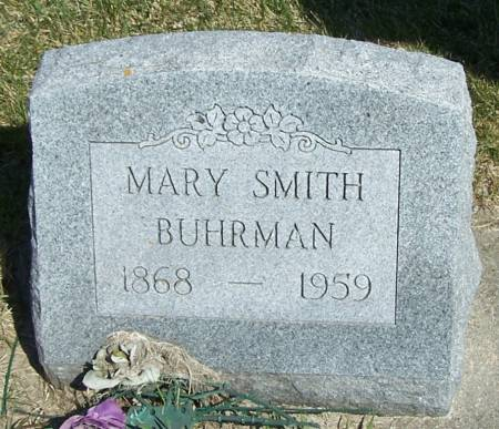 BUHRMAN, MARY - Benton County, Iowa | MARY BUHRMAN