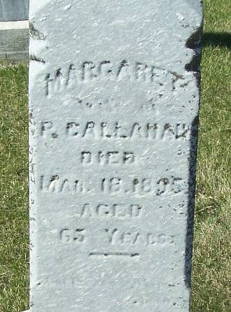 CALLAHAN, MARAGRET - Benton County, Iowa   MARAGRET CALLAHAN