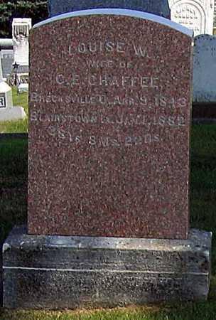 CHAFFEE, LOUISE W. - Benton County, Iowa   LOUISE W. CHAFFEE