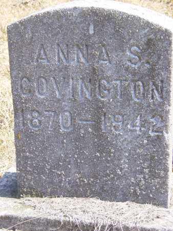 VAN SKIKE COVINGTON, ANNA S. - Benton County, Iowa | ANNA S. VAN SKIKE COVINGTON