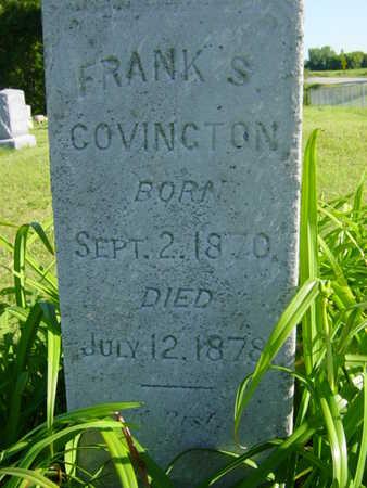 COVINGTON, FRANK S. - Benton County, Iowa   FRANK S. COVINGTON