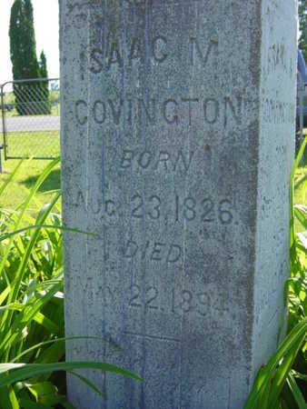 COVINGTON, ISAAC M. - Benton County, Iowa | ISAAC M. COVINGTON