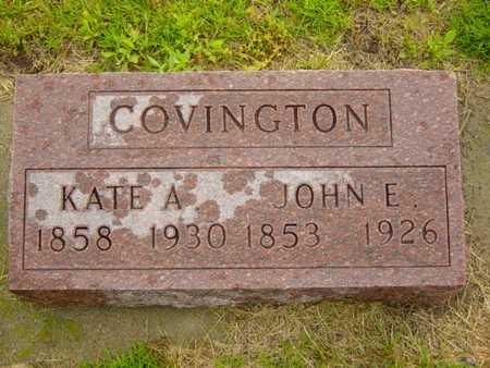 COVINGTON, JOHN E. - Benton County, Iowa   JOHN E. COVINGTON