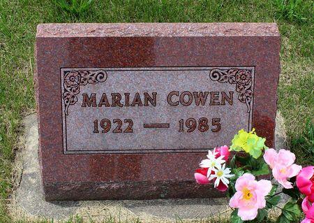 COWEN, MARIAN - Benton County, Iowa | MARIAN COWEN