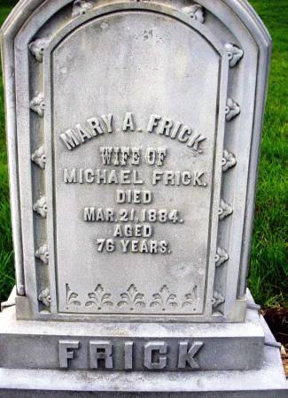 FRICK, MARY A. - Benton County, Iowa | MARY A. FRICK