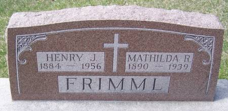 FRIMML, HENRY J - Benton County, Iowa | HENRY J FRIMML