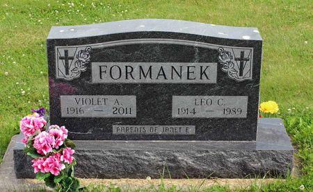 FORMANEK, LEO C. - Benton County, Iowa   LEO C. FORMANEK