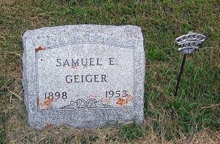 GEIGER, SAMUEL E. - Benton County, Iowa   SAMUEL E. GEIGER