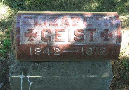 GEIST, ELIZABETH - Benton County, Iowa   ELIZABETH GEIST