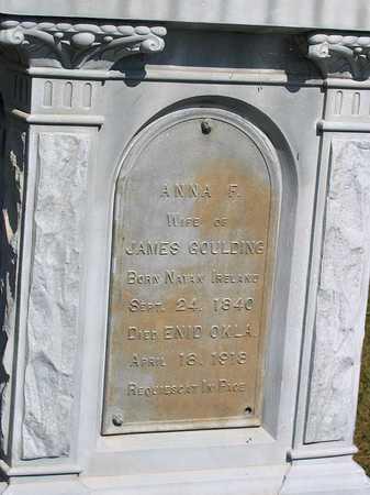 GOULDING, ANNA F. - Benton County, Iowa   ANNA F. GOULDING