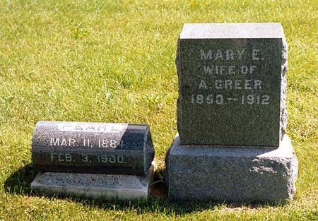 GREER, MARY E. - Benton County, Iowa | MARY E. GREER