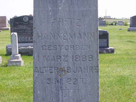 HANNEMANN, FRITZ - Benton County, Iowa | FRITZ HANNEMANN