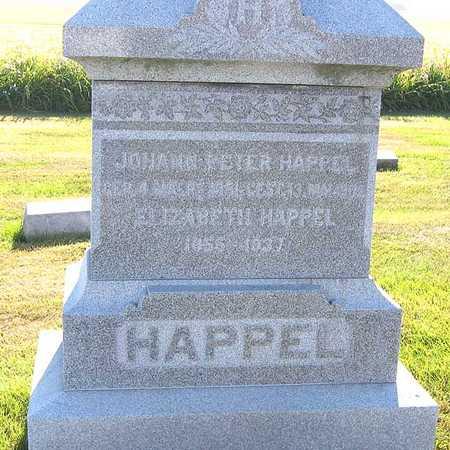 HAPPEL, JOHAN PETER - Benton County, Iowa | JOHAN PETER HAPPEL
