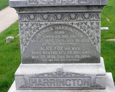 HARRINGTON, PATRICK - Benton County, Iowa   PATRICK HARRINGTON