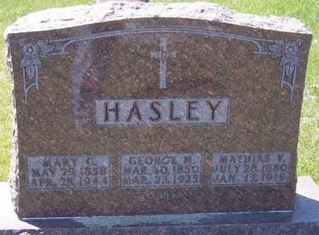 HASLEY, MARY C - Benton County, Iowa | MARY C HASLEY
